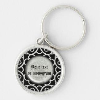 Porte-clés Conception en filigrane 2 d'argent de boucles de