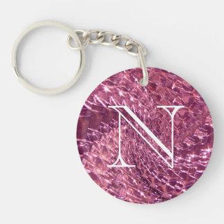 Porte-clés Conception en verre crépitée de remous -