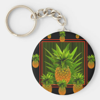 PORTE-CLÉS CONCEPTION HAWAÏENNE D'ANANAS DE BLACK-GREEN