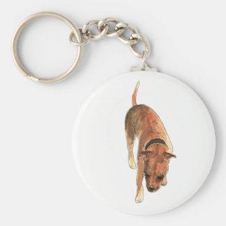 Porte-clés Conception pour aquarelle de chien de bull-terrier