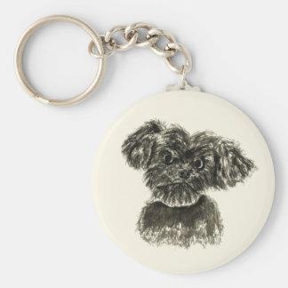 Porte-clés Conception pour aquarelle de chien de chiot drôle