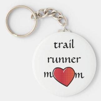 Porte-clés Conception rouge de coeur de maman de coureur de