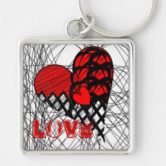 Porte-clés Conception rouge et noire d'embrouillement génial
