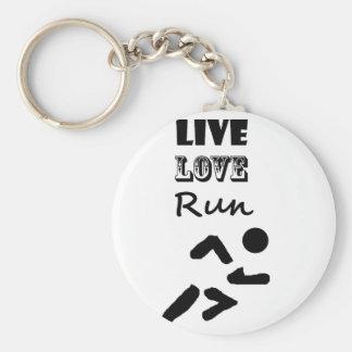 Porte-clés Conception vivante d'art de coureurs de course