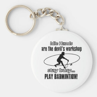 Porte-clés Conceptions fraîches de badminton