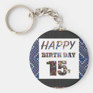 Porte-clés conceptions happybirthday de joyeux anniversaire