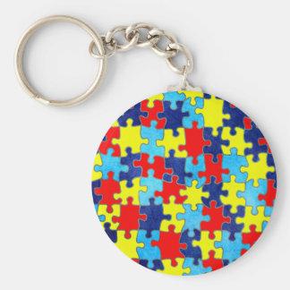 Porte-clés Conscience-Puzzle d'autisme par Shirley Taylor