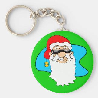 Porte-clés Cool Père Noël de Joyeux Noël dans des lunettes de