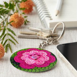 Porte-clés Copie attrayante de crochet de vert de fleur de