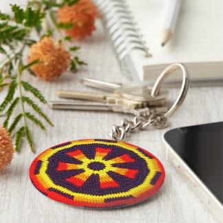 Porte-clés Copie jaune ensoleillée orange lumineuse de