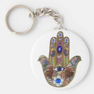Porte-clés Copie opale d'art de fleurs de coeurs de Judaica