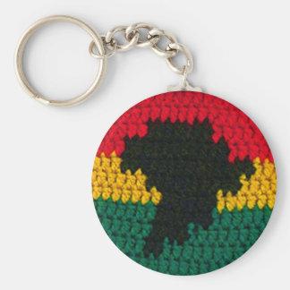 Porte-clés Copie rouge de crochet de carte de l'Afrique de