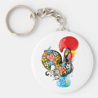Porte-clés Coq célèbre de Barcelos Nr 06 - édition florale
