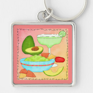 Porte-clés Corail coloré de guacamole de margarita
