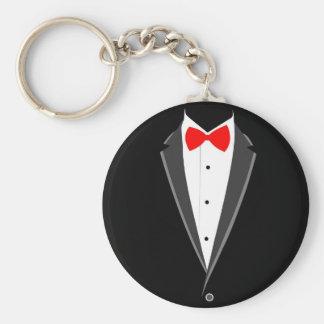 Porte-clés costume élégant de tabagisme de noir de smoking de