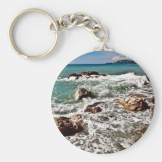 Porte-clés Côte est sur l'île Sicile