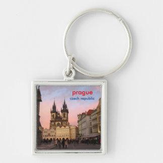 Porte-clés Coucher du soleil dans la vieille place - Prague,