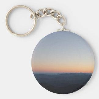 Porte-clés Coucher du soleil de Blue Ridge Mountains