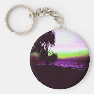 Porte-clés Coucher du soleil tropical