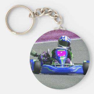 Porte-clés Couleur inversée par coureur de kart