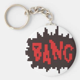 Porte-clés coup de bande dessinée