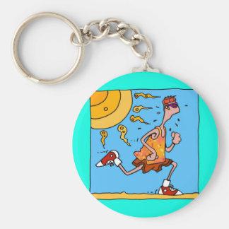 Porte-clés coureur d'été (type)