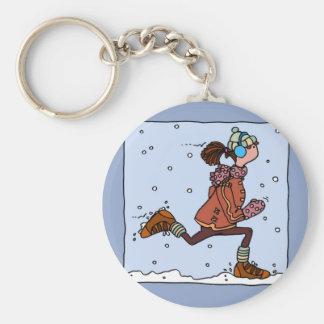 Porte-clés coureur d'hiver (femme)