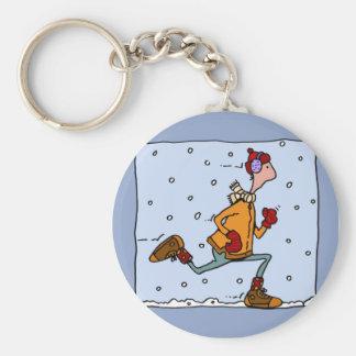 Porte-clés coureur d'hiver (type)