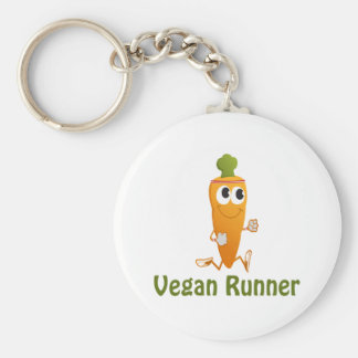 Porte-clés Coureur végétalien - carotte