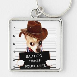 Porte-clés cowboy de chiwawa - chien de shérif
