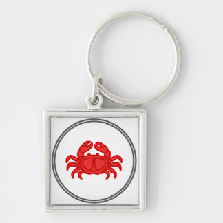 Porte-clés Crabe rouge - collection de crabe de crevette rose