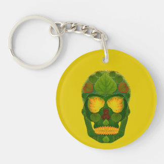 Porte-clés Crâne 9 de feuille d'Aspen