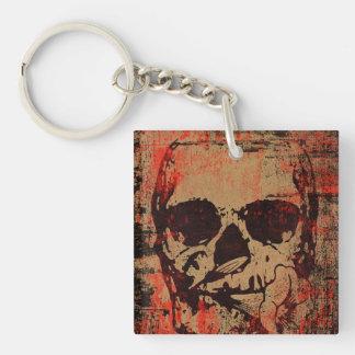 Porte-clés Crâne avec la fleur
