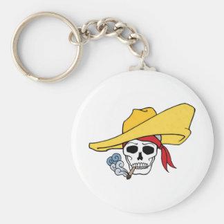 Porte-clés Crâne de tabagisme de Halloween avec la bande