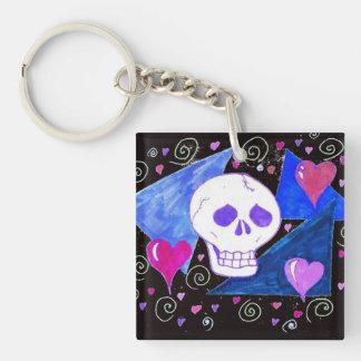 Porte-clés Crâne gothique (version originale) par EelKat
