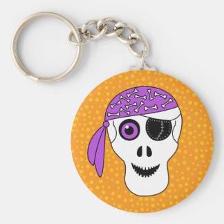 Porte-clés Crâne Halloween de pirate