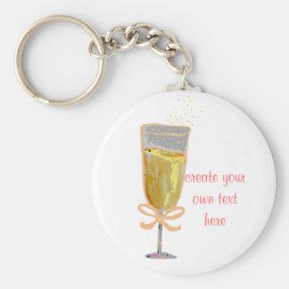 Porte-clés Créez votre propre pêche Champagne
