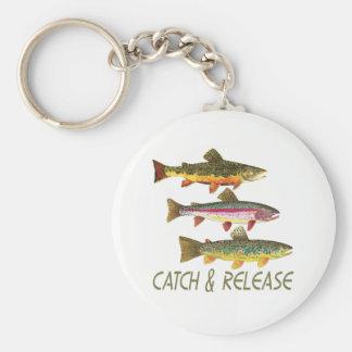 Porte-clés Crochet et libération de pêche de truite