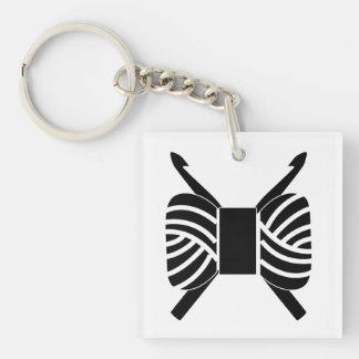 Porte-clés Crochets de crochet et métiers d'écheveau de fil