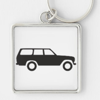 Porte-clés Croiseur de terre de Toyota porte - clé d'icône de