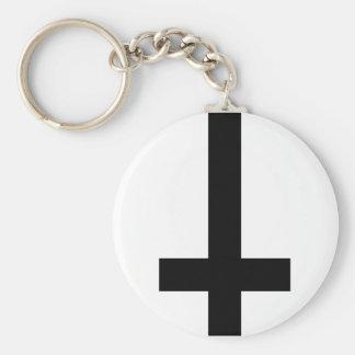 Porte-clés Croix à l'envers