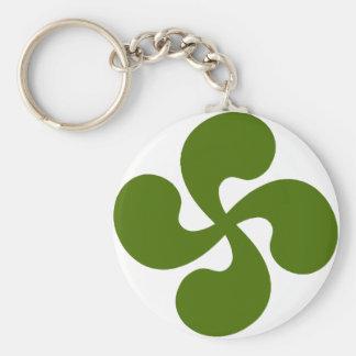 Porte-clés Croix Basque Verte