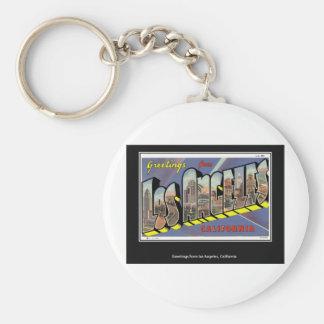 Porte-clés Cru vintage de Los Angeles la Californie