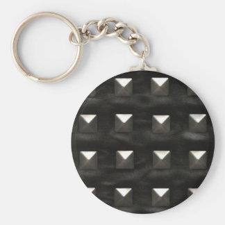 Porte-clés Cuir noir clouté