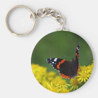 Porte-clés d'amiral rouge papillon
