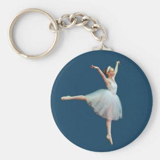 Porte-clés Danse de ballerine sur le porte - clé bleu