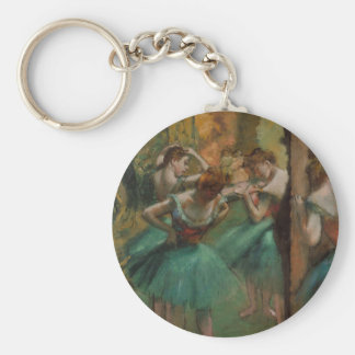Porte-clés Danseurs d'Edgar Degas roses et porte - clé vert