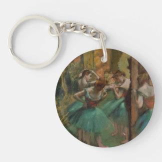 Porte-clés Danseurs d'illustration de ballet roses et Edgar
