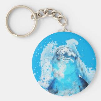 Porte-clés Dauphin bleu