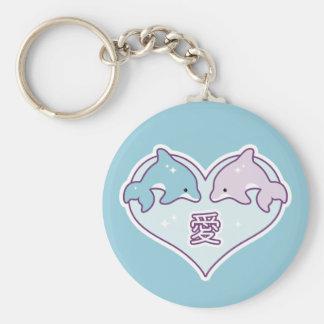 Porte-clés Dauphins d'amour